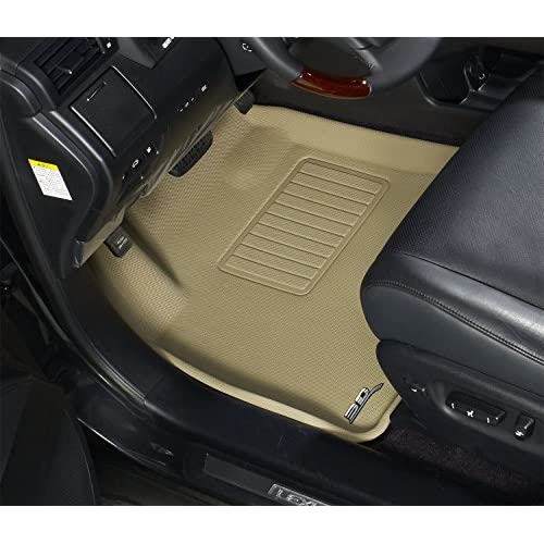 3D MAXpider Second Row Custom Fit All-Weather Floor Mat for Select Hyundai Ioniq Hybrid Models Kagu Rubber Black