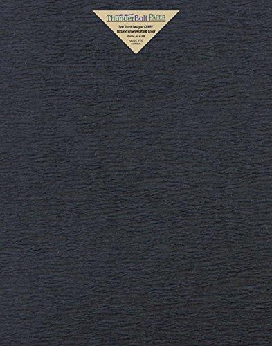 20 fundas de papel de color crepé negro de tacto suave de 28 x 35 cm, 80 lb de grosor – textura corta – Scrapbook;...