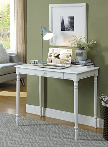 Convenience Concepts French Country Desk, 36-Inch, White (Country French Table Set)