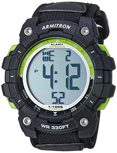 Armitron Sport Men's 40/8435GBK Digital Chronograph Black Nylon Strap - Chronograph Digital