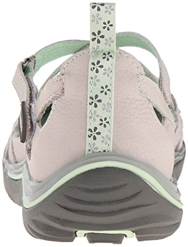 Jambu Women's Blossom Encore Mary Jane Flat Light Grey pmdXaClR