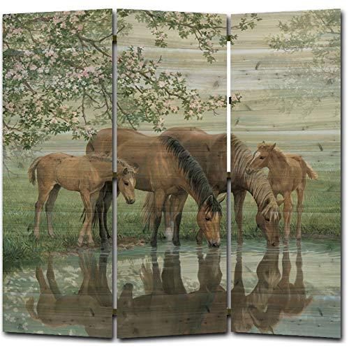 WGI-GALLERY Sweet Spring Horses Room Screen, 68