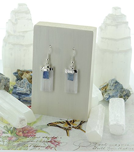 Selenite & Kyanite Earring Angels Contact Noble Healing