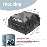 Mockins Waterproof Cargo Roof Bag | The Car Top Carrier Bag is Made from Heavy Duty Abrasion Resistant Vinyl and is 44