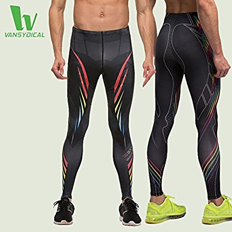 70de2965aa0e11 Buy Generic MAHP6003, M : VANSYDICAL Men's Compression Pants Fitness Tights  Quick-dry Fitness Print Long Pants Skinny Running Leggings Breathable Gym  Wear ...
