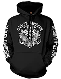 Military Graphic Pullover Hooded Sweatshirt - Military...