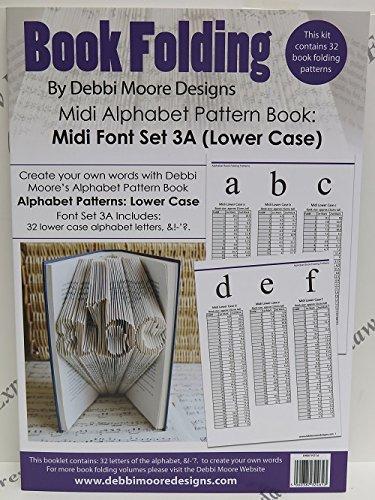 Debbi Moore Book Folding Pattern Book Alphabet Font Set 3A (Lower Case) Debbi Moore Designs