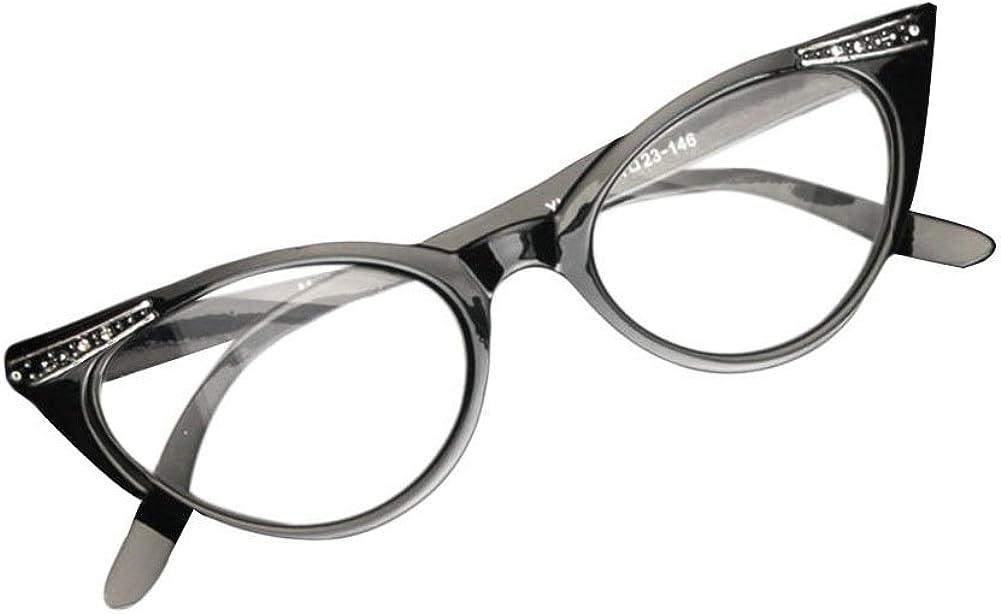 3.5 1.0 to Aiweijia Vintage inspir/é Mod Womens mode strass Cat Eye lunettes de lecture