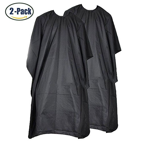 Price comparison product image Braylin Waterproof Professional Hair Salon Nylon Cape with Snap Closure Barbers Cape 2 pack