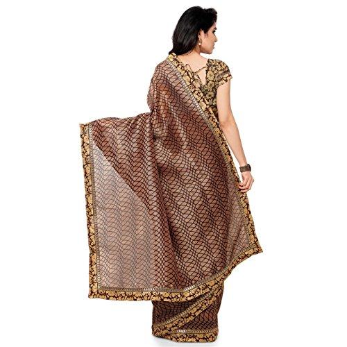 Rajnandini-Womens-Ethnic-Wear-Tussar-Silk-Printed-Saree-Free-Size-Coffee