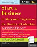 Start a Business Maryland, Virginia or the District of Columbia, James E. Burk, 1572485396