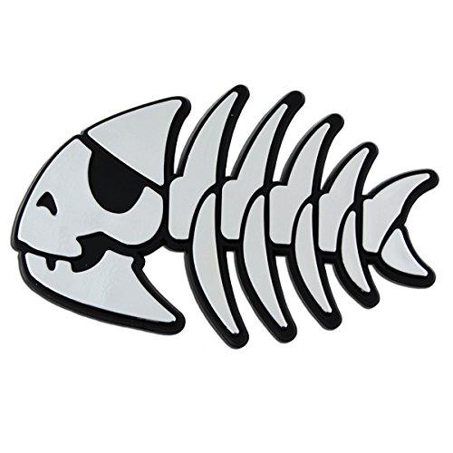 Jolly Pirate Fish Chrome Auto Emblem - 4.25
