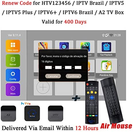 Código de renovación para IPTV Brasil 400 días de suscripción IPTV ...