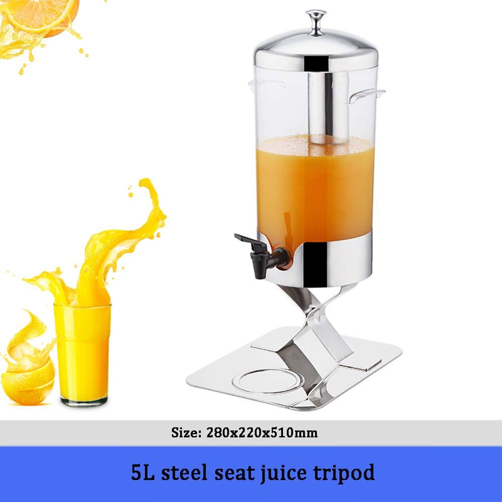 comprar mejor A Steel Seat Seat Seat Juice Tripod Lata sellada Dispensador de Bebidas - trípode de Jugo de Cabeza única de Acero Inoxidable 304, decantador de Torre de Cerveza, Gran Capacidad 5L  echa un vistazo a los más baratos