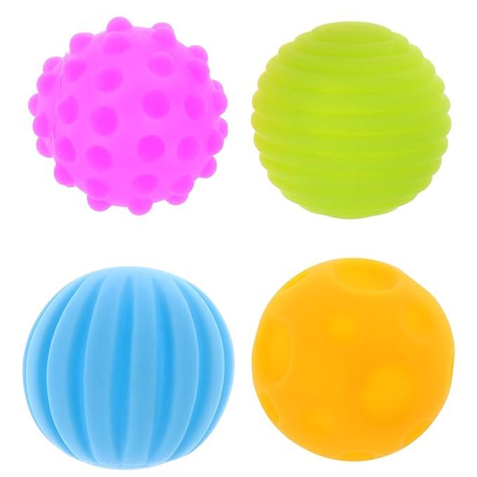Senso Regenbogenball Sensory Bälle Motorikspielzeug BPA-Frei Babyspielzeug