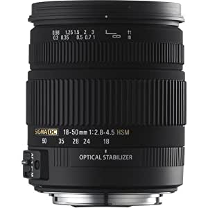 Sigma 18-50mm f/2.8-4.5 SLD Aspherical DC OS HSM Wide Angle Zoom Lens for Canon EOS Digital Rebel XT, XTi, XS, XSi, T3i, T3, T2i, T2, T1i, 5D, 7D, 10D, 20D, 30D, 40D, 50D & 60D Digital SLR Cameras