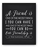 A Gift for a special friend that's full of meaning!Always prepared with sound advice or a shoulder to cry on, who deserves a great gift more than your Best Friend? The Friend Poem Print from Ocean Drop Designs turns a heartfelt quote into a b...