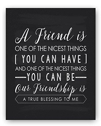 Friendship Gift Friend Quote Sign, Unique Friendship Gift, Best Friend Gift, Friend Quote Gift, Friend Chalkboard Friendship Poem by Ocean Drop Designs