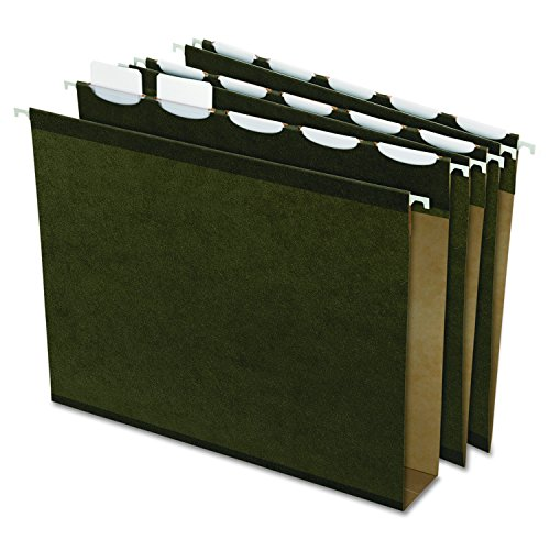 Pendaflex Ready-Tab Extra Capacity Reinforced Hanging File Folders, Letter Size, Standard Green, 5 Tab, 20/BX (42701)