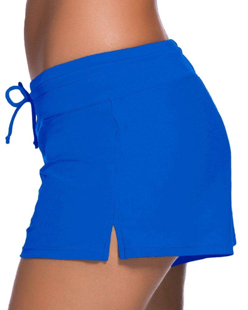 713cd906768f Runyue Mujer Shorts De Baño Trajes De Baño Bañador Deportivo Traje ...