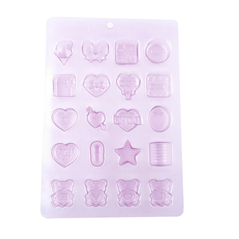 100 PCS Chocolate Molds Baby Shower Candy Making Supplies Jelly Maker Wholesale JL010 Heart Bear Mixed