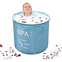 Bañera hinchable portátil, baño familiar, spa en casa, bañera inflable plegable y duradera, piscina inflable al aire…