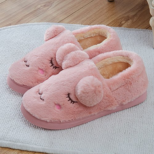 Aemember Autumn And Winter Cotton Slippers Bag With Indoor Home Furnishing Thick Warm Non Slip Home,38/39 (Suitable For 37/38 Feet At Ordinary Times),Gray by Aemember