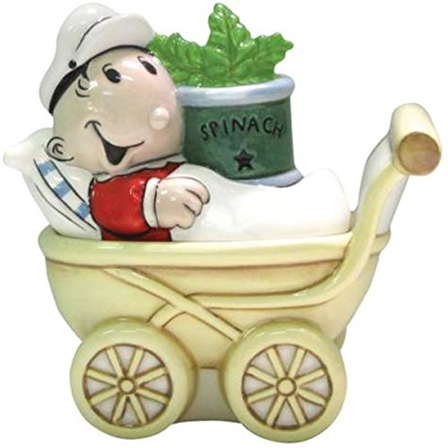 3.75 Inch Sweet Pea with Stroller Ceramic Salt and Pepper (Sweet Pea Olive Oyl)