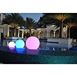 PublicLight LED Illuminated Orb Lights Floating Pool Balls/ Floor Lamps/ Hanging Lanterns 10 in. Diameter