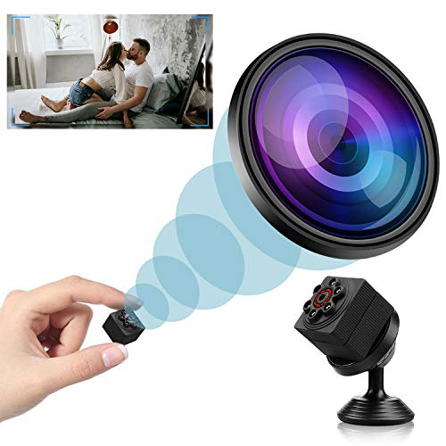 Mini Spy Camera Wireless Hidden, 2020 Full HD 1080P Portable Small Nanny Cameras Covert Cop Cam, Micro USB Security Surveillance Camera with Night Vision and Motion Detection for Home, Office and Car