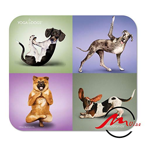 - ZMvise Handstands Yoga Dogs Fashion Cartoon Mouse Pad Mat Custom Rectangle Gaming Mousepad