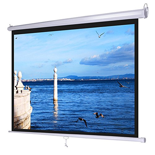 """Excellent Quality Convenient Helpful Manual Pull Down Projector Screen Wall Celling Installation Design Mounted 72"""" In Inch 4:3"""