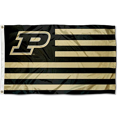 Purdue Boilermakers Banner Flag - College Flags and Banners Co. Purdue Boilermakers Stars and Stripes Nation Flag