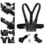 AxPower Adjustable Go Pro Chest Strap Mount Elastic Action Camera Body Belt Harness with J Hook for GoPro HD Hero 5 4 3+ 3 GoPro 6