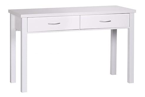 Schreibtisch holz weiß  FineBuy Schreibtisch Weiß mit 2 Schubladen Holz | Moderner ...