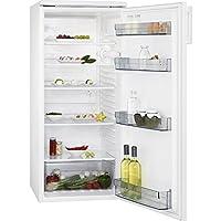 AEG RKB42511AW Kühlschrank / extragroßer 235 Liter Kühlschrank ohne Gefrierfach / Klasse A+ (130 kWh/Jahr) / vollautomatisches Abtauen und verstellbare Ablagen / freistehender Kühlschrank mit elegantem Design / Höhe: 125 cm / weiß