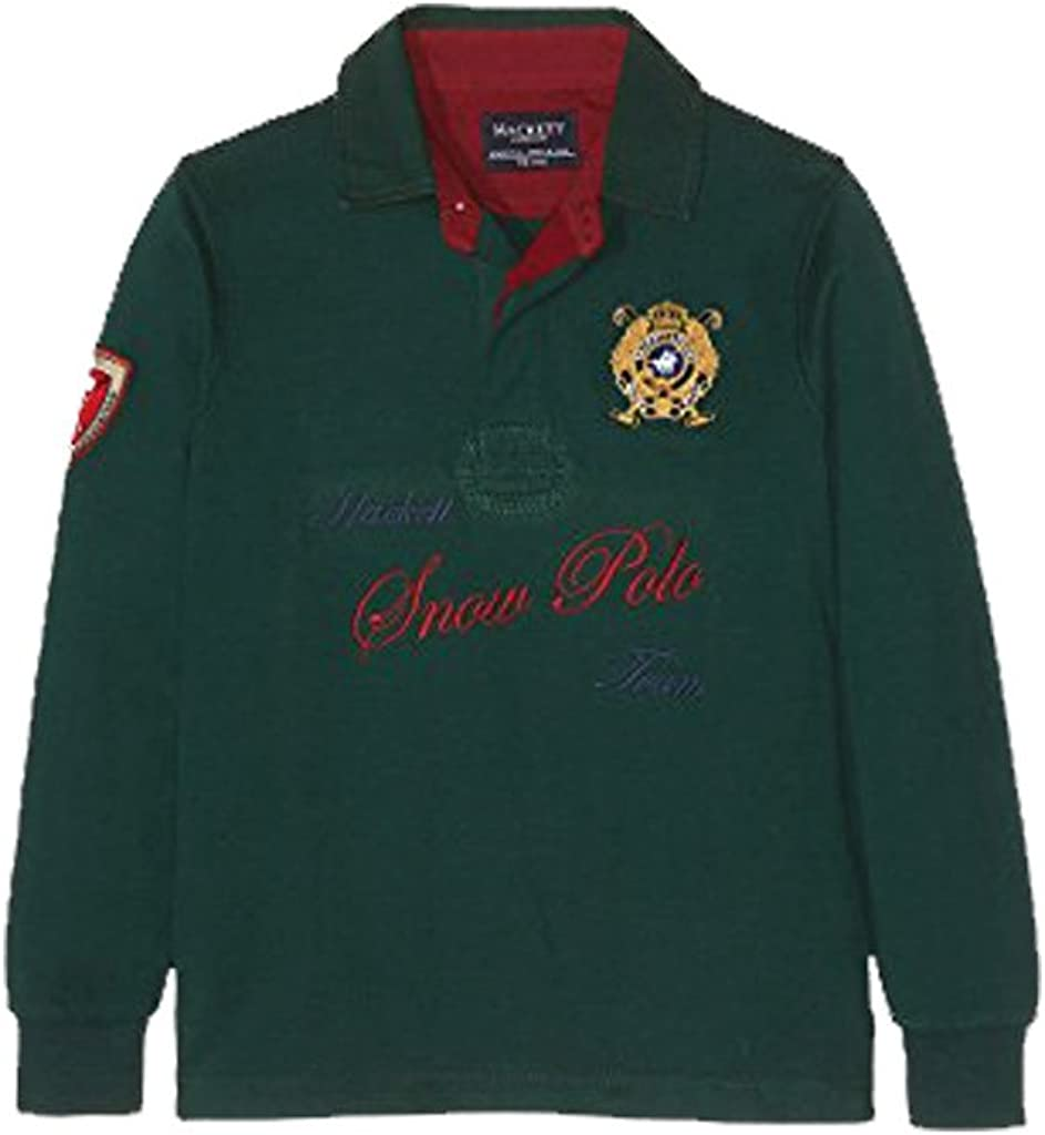 Hackett - Polo de Manga Larga Snow Rugby, Chico, Color: Forest ...