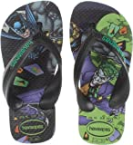 Havaianas Kids Flip Flop Sandals, Max Heroes, Superman ,Grey/Black,23-24 BR(9 M US Toddler)