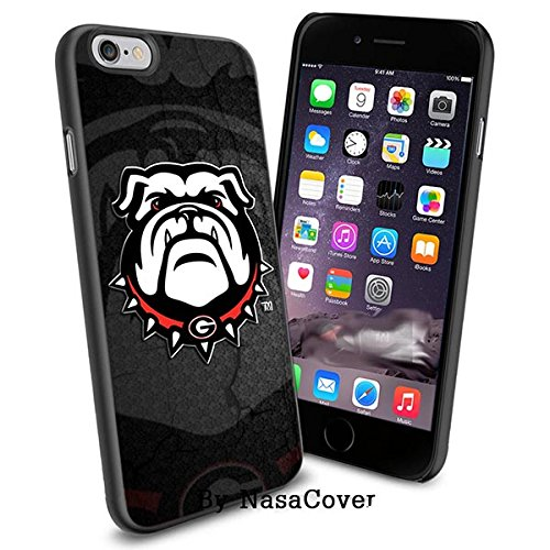 (Available for iPhone 4,4s,5,5s,6,6Plus) NCAA University sport Georgia Bulldogs , Cool iPhone 4 5 or 6 Smartphone Case Cover Collector iPhone TPU Rubber Case Black [By Lucky9Cover]