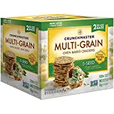 Crunchmaster Multi-Grain 5-Seed Crackers Gluten Free 20 oz (Pack of 3)