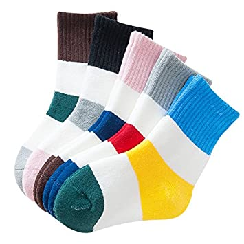 XIU*RONG Los Niños Calcetines De Algodón Niñas Engrosada 3-5-7-