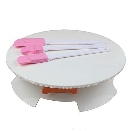 Tocadiscos giratorio para decoración de tartas con bloqueo y ...