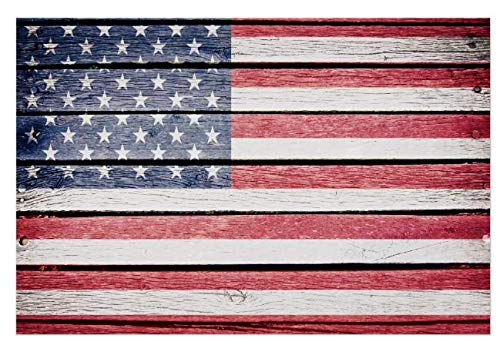 234Tiffany American Flag Wood Rustic Image Wood Sign Plaque 12 x 18 inches.