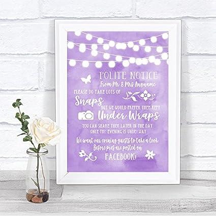 Letrero de boda personalizable, diseño con texto en inglés ...