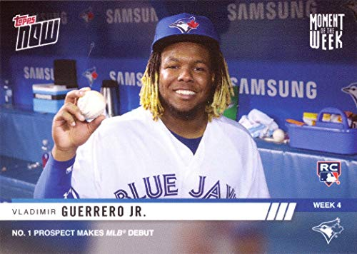 2019 Topps Now Moment of the Week #MOW-4 Vladimir Guerrero Jr. Baseball Rookie Card - Only 4,178 made!