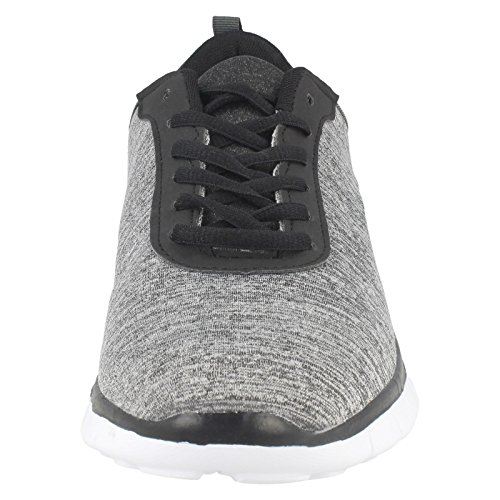 Mens AirTech Lace Up Sports Trainers Profile Grey AjfszLrrNE