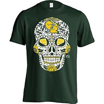 america s finest apparel wisconsin mens sugar skull shirt at amazon