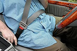 Type L Seat Belt Extender - Rigid Style Available in Black, Gray & Beige