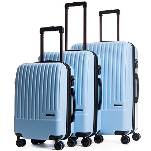 CALPAK Davis Expandable Luggage Set, Light Blue