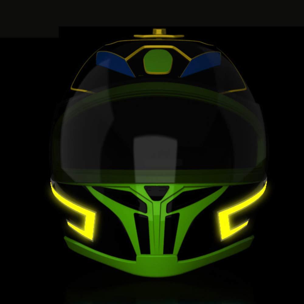 Carrfan Casco de la Motocicleta EL Modo de luz fr/ía 4 Led Casco de Bicicleta Luces de luz Barra de Tira Amarillo